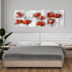 Canvas 20 x 60 - Abstract poppies
