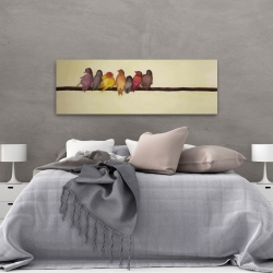 Canvas 20 x 60 - Bird family
