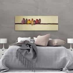 Canvas 20 x 60 - Bird family
