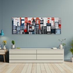 Canvas 20 x 60 - Geometric urban landscape