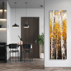 Canvas 20 x 60 - Birches by sunny day