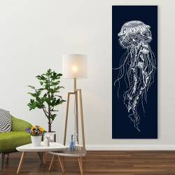 Canvas 20 x 60 - Detailed jellyfish illustration