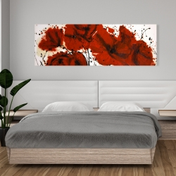 Canvas 20 x 60 - Abstract red flowers field