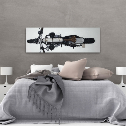 Canvas 20 x 60 - Overhead view of a motorcycle