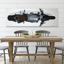 Canvas 20 x 60 - Overhead view of a motorbike