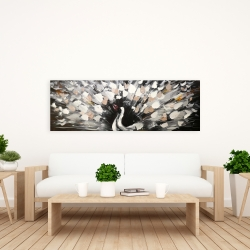 Canvas 20 x 60 - Spotted abstract peacock
