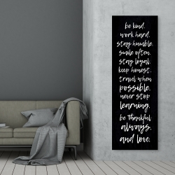Canvas 20 x 60 - Be kind. work hard. stay humble...