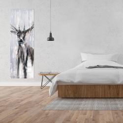 Canvas 20 x 60 - Winter abstract deer