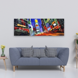Canvas 20 x 60 - Colorful times square by night