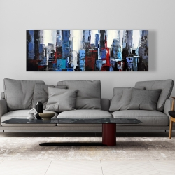 Canvas 20 x 60 - Abstract blue city
