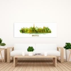 Canvas 20 x 60 - Paint splash silhouette of bristol