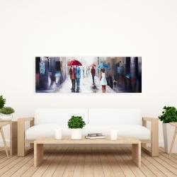 Canvas 20 x 60 - White dress woman walking down the street