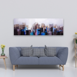 Canvas 20 x 60 - Abstract cold city