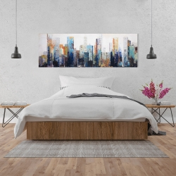 Canvas 20 x 60 - Texturized abstract city