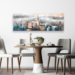 Canvas 20 x 60 - Cityscape of new york with the chrysler building