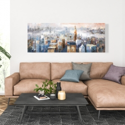 Canvas 20 x 60 - Abstract new york city