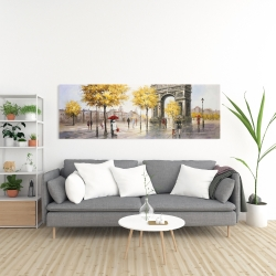 Canvas 20 x 60 - Arc de triomphe to paris