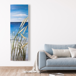 Canvas 20 x 60 - Wild herbs on the beach