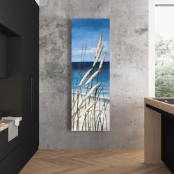 Canvas 20 x 60 - Wild herbs in the wind on at the beach