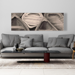 Canvas 20 x 60 - Sepia canoes