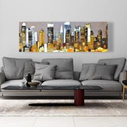 Toile 20 x 60 - Gratte-ciel texturés de nuit