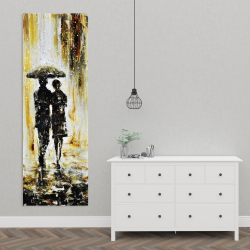 Canvas 20 x 60 - Couple under the rain