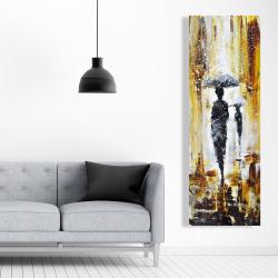 Canvas 20 x 60 - Silhouettes under the rain