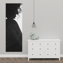 Canvas 20 x 60 - Chic woman with jewels