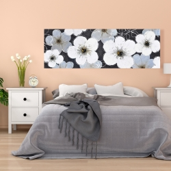 Canvas 20 x 60 - Gray flowers