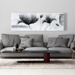 Canvas 20 x 60 - Industrial style flowers