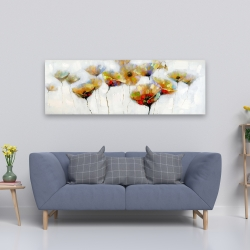 Canvas 20 x 60 - Color spotted flowers