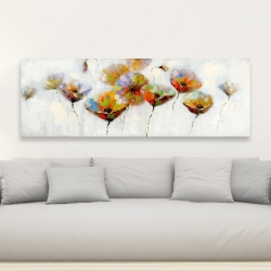 Canvas 20 x 60 - Color dotted flowers