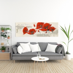 Canvas 20 x 60 - Red flowers with an handwritten typo