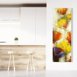 Canvas 20 x 60 - Modern yellow flowers