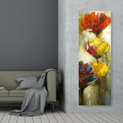 Canvas 20 x 60 - Orange and yellow flowers