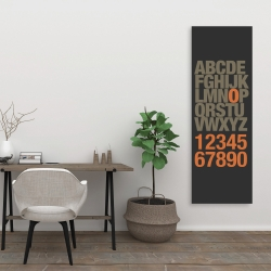Canvas 20 x 60 - Alphabet and number