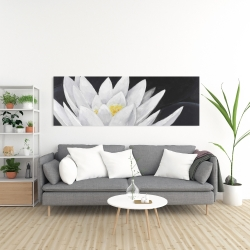 Canvas 20 x 60 - Lotus flower with reflection
