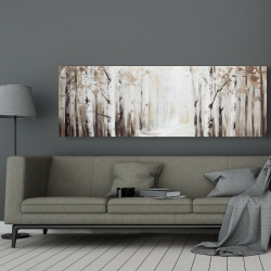 Canvas 20 x 60 - Winter forest