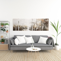 Canvas 20 x 60 - Abstract white forest