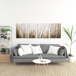Canvas 20 x 60 - Texturized abstract forest