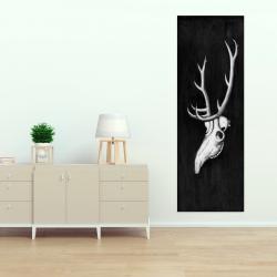 Canvas 20 x 60 - Deer skull in the dark