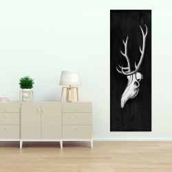 Canvas 20 x 60 - Deer skull in the dark