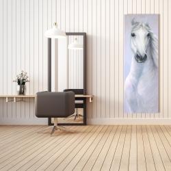 Canvas 20 x 60 - Powerful white horse