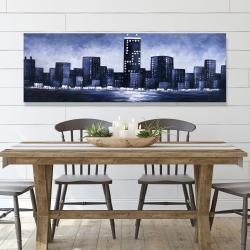 Canvas 20 x 60 - Dark blue cityscape