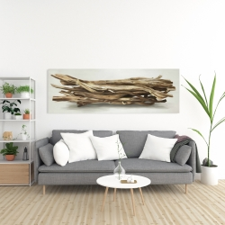 Canvas 20 x 60 - Floated wood left by the sea