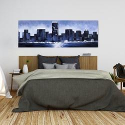 Canvas 20 x 60 - Marine blue city