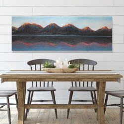 Canvas 20 x 60 - Mountains and calm lake