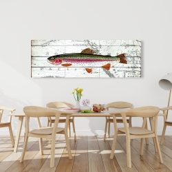Canvas 20 x 60 - Trout on a world map