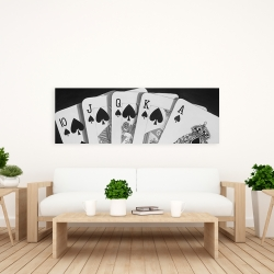Canvas 20 x 60 - Black and white card game