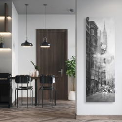 Canvas 20 x 60 - Morning in the streets of new-york city monochrome